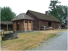 Inside the 1839 fort at Fort Langley National Historic Site