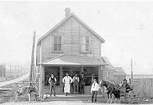 black and white photo of Porter's General Store in Murrayville