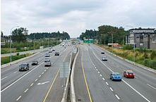 Trans-Canada Highway in Langley